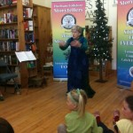 Lucy storytelling at Uxbridge